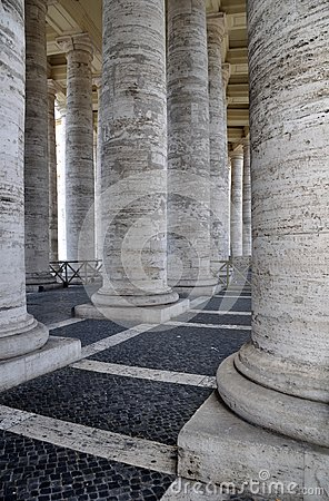 St Peter s Square Colonnade, Rome Italy