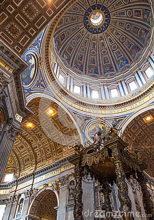 Free St. Peter& X27;s Basilica - Vatican City, Rome, Italy Stock Image - 89342811