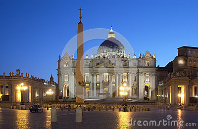 St Peters Basilica - The Vatican - Rome - Italy Editorial Image