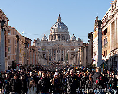 St. Peters Cathedral on christmas day Editorial Image