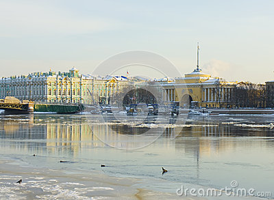 St. Petersburg, Admiralty and Winter palace