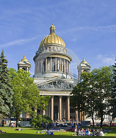St. Petersburg, cathedral of St. Isaak (Isaakievskiy) Editorial Stock Image