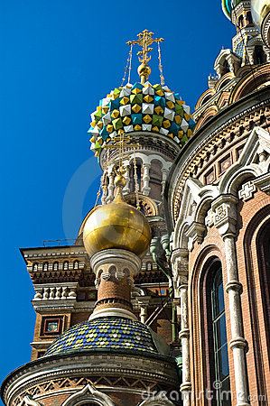 St Petersburg Coloured Cupola