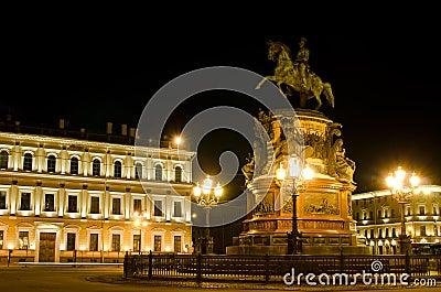 St. Petersburg, Emperor Nikolai I monument