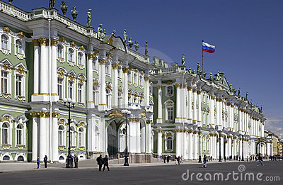 St Petersburg - Hermitage Museum - Russia Editorial Photo