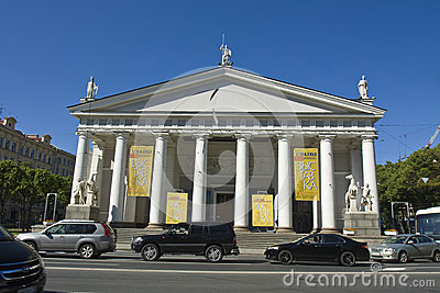 St. Petersburg, Konogvardeyskiy manege Editorial Stock Photo