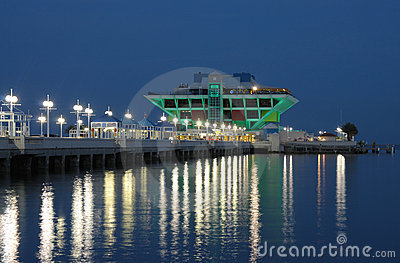 St. Petersburg Pier at night, Florida