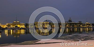 St. Petersburg, quay of Neva