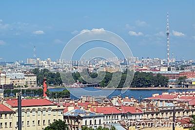 St. Petersburg, top view