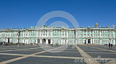 St. Petersburg, Winter palace (Hermitage) Editorial Photo