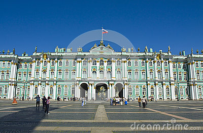 St. Petersburg, Winter palace (Hermitage) Editorial Photography