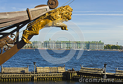 St. Petersburg, Winter palace (Hermitage) and part of sailing sh