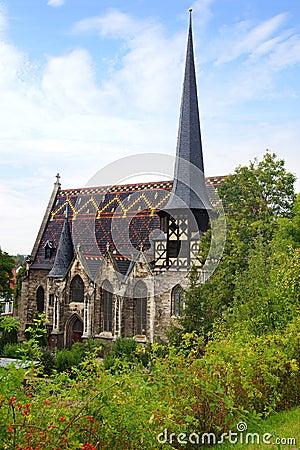 St. Petrikirche in Muehlhausen.