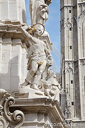 St. Sebastien - Trinity column in Budapest
