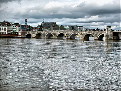 St. Servaasbrug bridge in Maastricht, Netherlands.