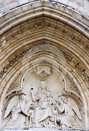 St. severin church in Paris - detail