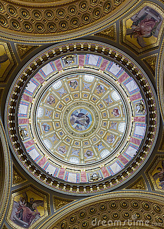 St. Stephen basilica dome, Budapest, Hungary