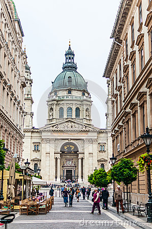 St. Stephen s Basilica in Budapest Editorial Photography