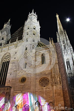 St. Stephen s Cathedral in Vienna at night - Austria