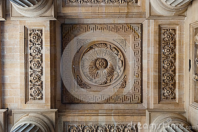 St. Sulpice Church, arcade ceiling decorations