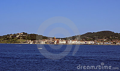 St tropez from sea