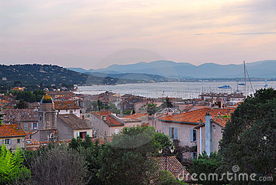 St.Tropez at sunset