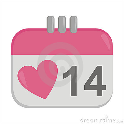 St. valentine s day calendar icon