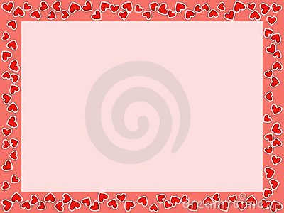 stvalentines day frame with hearts