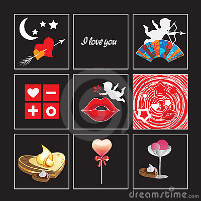 ST. Valentine s day icons