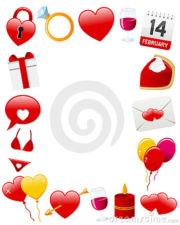 St. Valentine S Photo Frame Stock Photos - Image: 22915543