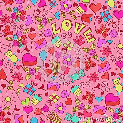 St valentine s seamless pattern.