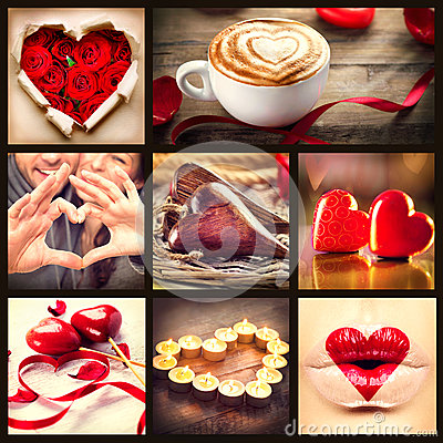 Free St. Valentines Day Collage Stock Images - 37213454