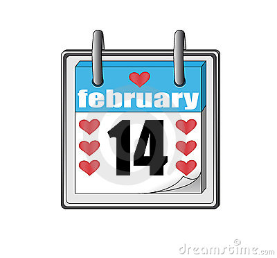 St Valentine's day icon of the calendar