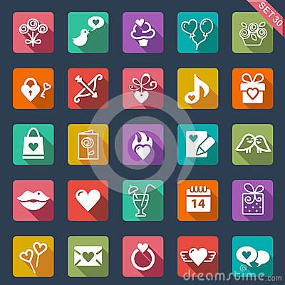 Free St. Valentines Day Icons Stock Photo - 37121350