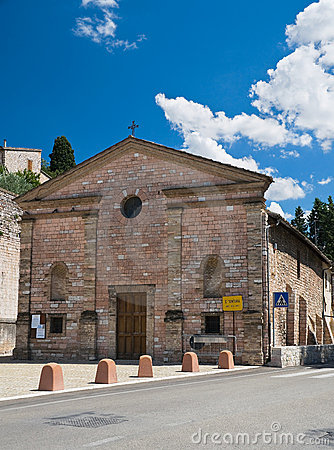 Free St. Ventura Church. Spello. Umbria. Stock Images - 16033864