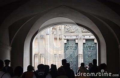 St. Vitus cathedral doorway.