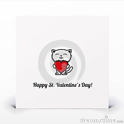 St. Walentynek dzień karta