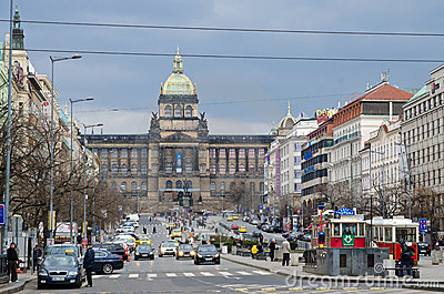 St. Wenceslas  square, Prague Editorial Image