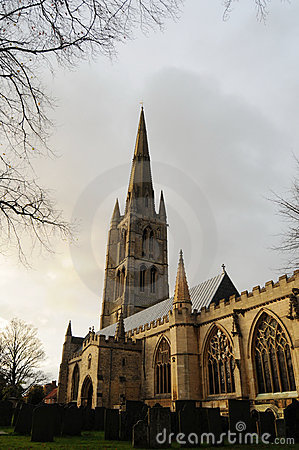 Free St Wulfram S Church And Old Graveyard In Grantham Stock Photography - 17247292