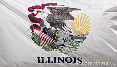 Staat Illinois-Markierungsfahne