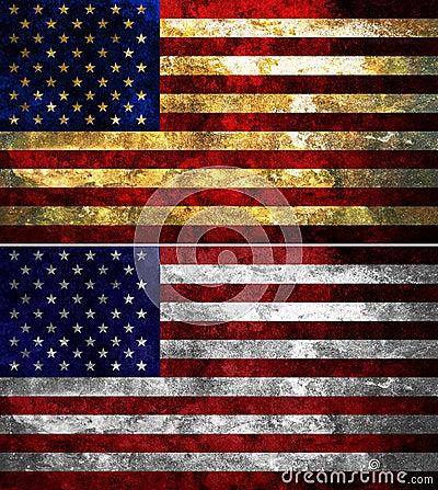Staaten von Amerika maserten Markierungsfahne
