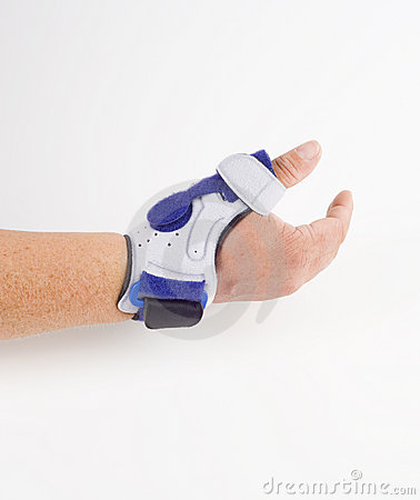 Free Stabilizing Orthosis, Thumb Support Royalty Free Stock Photos - 15244698