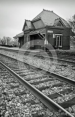 Stacja historyczny pociąg