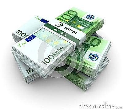 Stack of 100€ bills