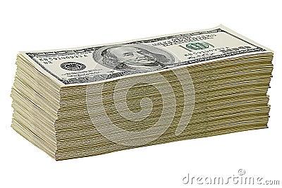 Stack of $100 dollar bills