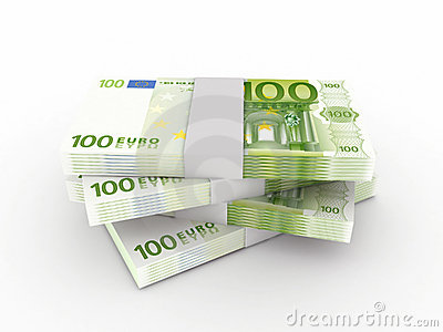 Stack of 200 euro bills