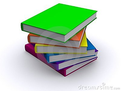 Stack of 3d books