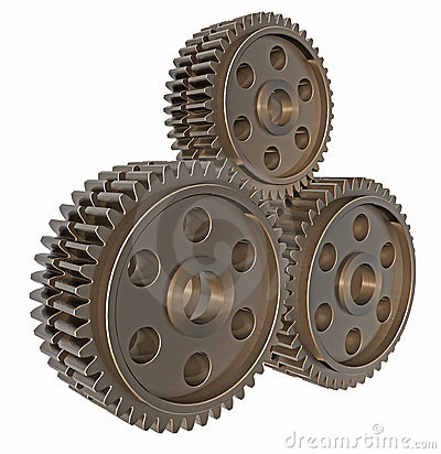 Stack of 3D Gears