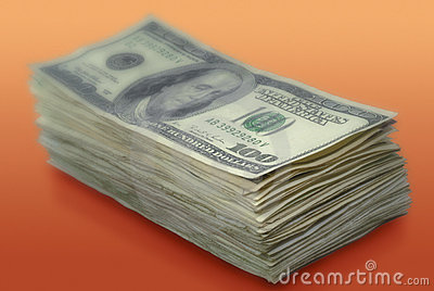 Stack of American paper money