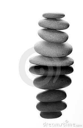 Stack of balanced stones concept